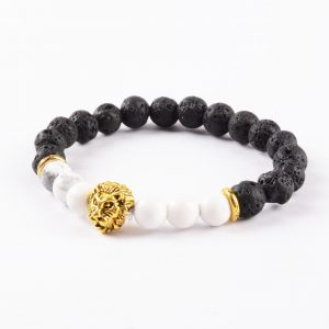 Golden Lion Emotional Calmness Bracelet - Howlite