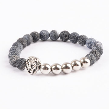 Silver Lion Emotional Stability Bracelet - Frost Veins