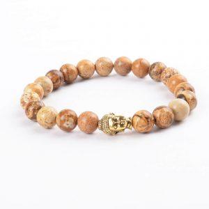 Golden Buddha Emotional Stability Bracelet | Picture Jasper Stones