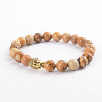 Golden Buddha Emotional Stability Bracelet | Picture Jasper Stones 2