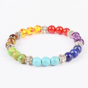 Life Balancing Creation Bracelet | Full Chakra Stone Beads