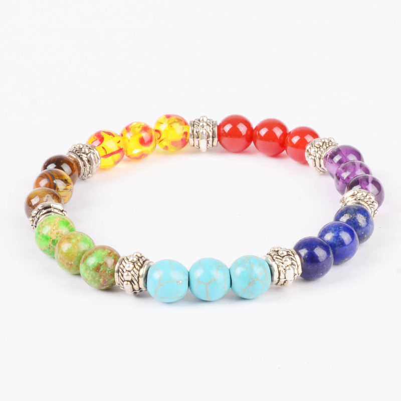 Life Balancing Creation Bracelet | Full Chakra Stone Beads