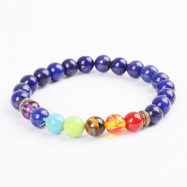 Life Balancing & Clarity Bracelet | Full Chakra & Lazurite Stone Beads