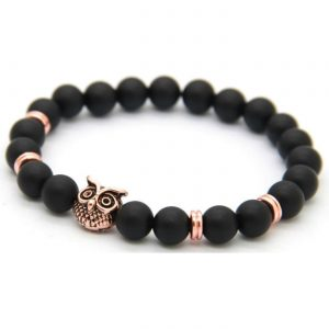 Rose Gold Owl Courage