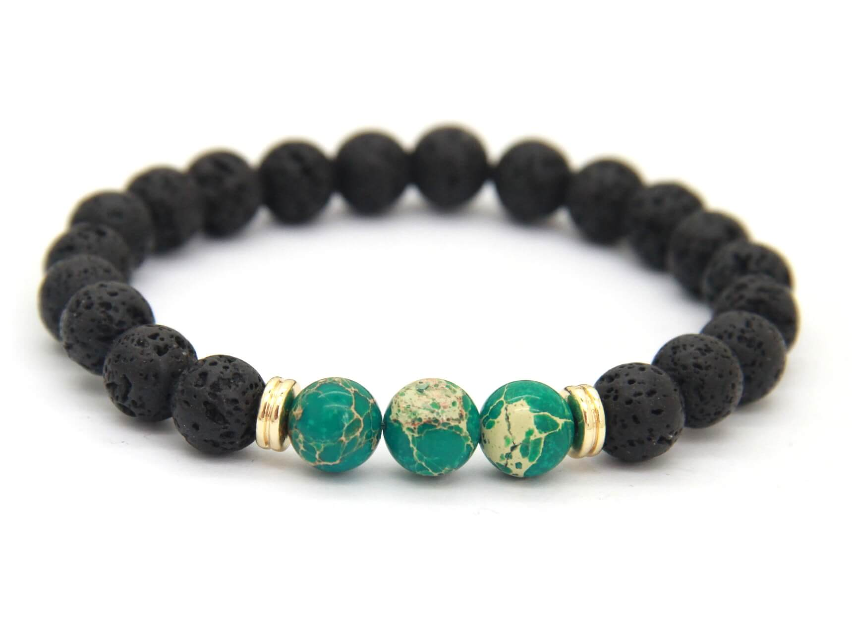 aromatherapy diffuser chakra with beads green product lava natural stone bracelet