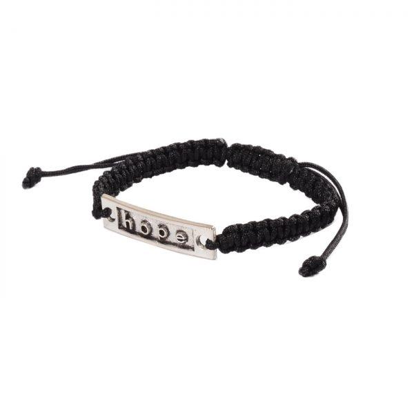 Silk Threaded Adjustable Hope Bracelet