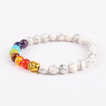 Golden Buddha Creation Bracelet | Full Chakra Stones