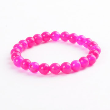 Heart And Love Bracelet | Pink Crystal Stone Beads