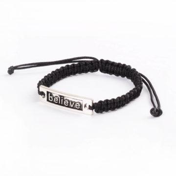 Silk Threaded Adjustable Believe Bracelet 2